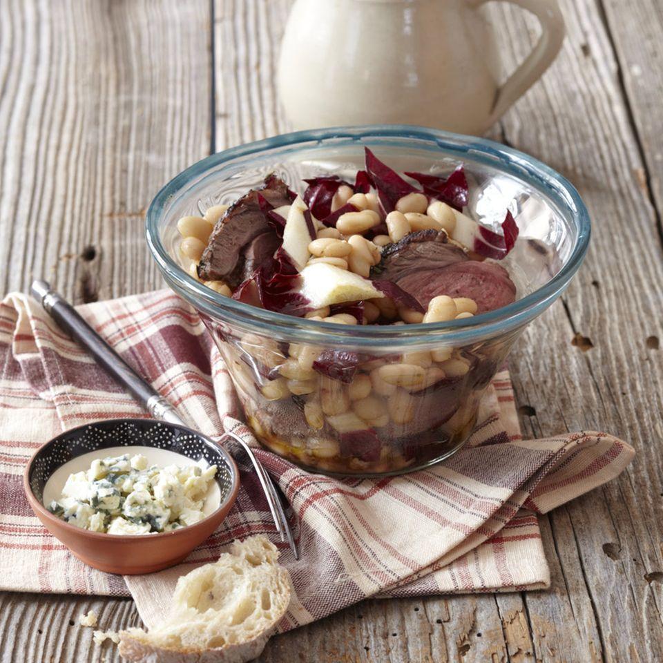 Warmer Bohnensalat mit Lamm