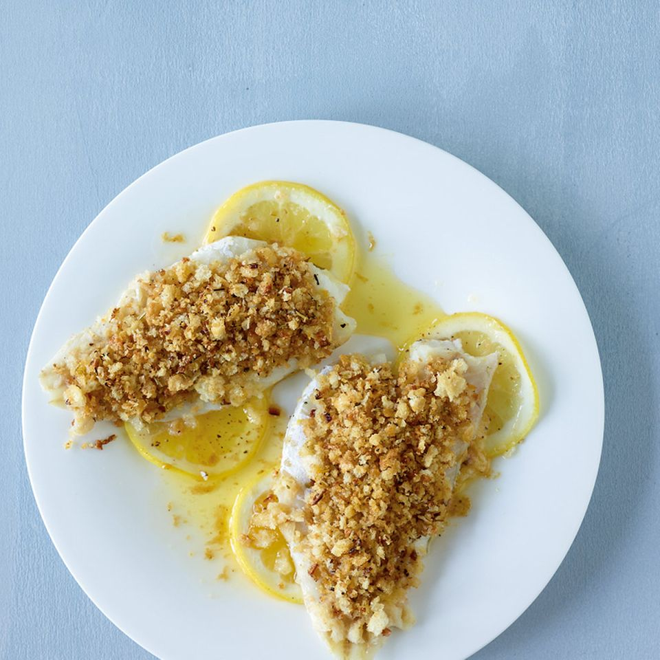 Fisch mit Kräuterkruste