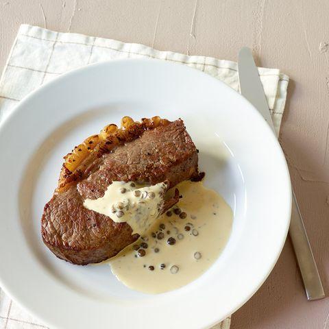 Steak mit Pfefferrahm