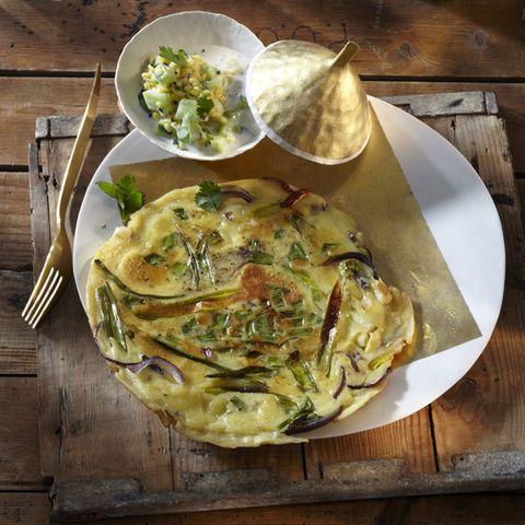 Omelette mit Gurken-Joghurt