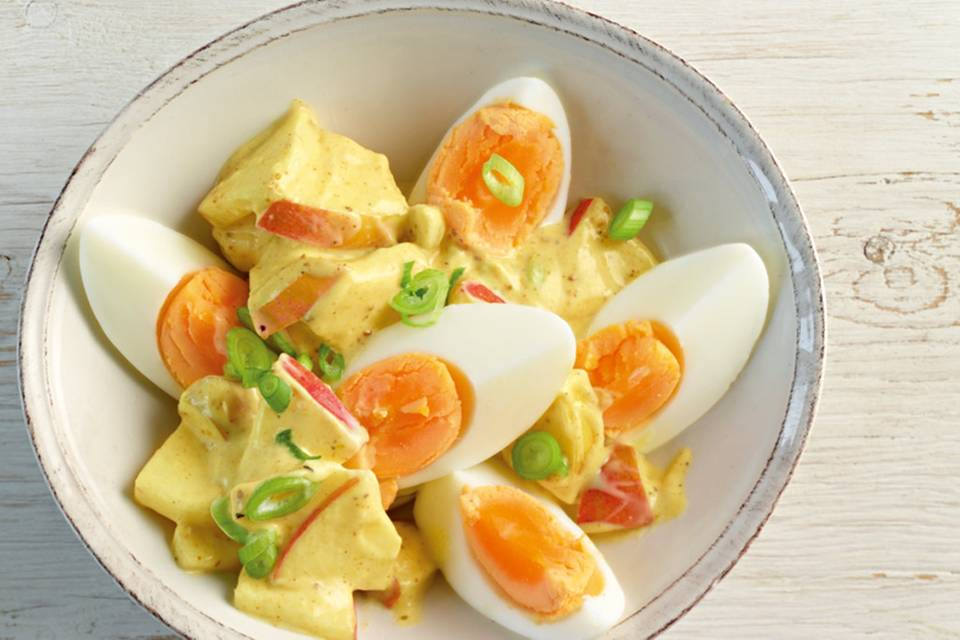 Eiersalat mit Curry Rezept