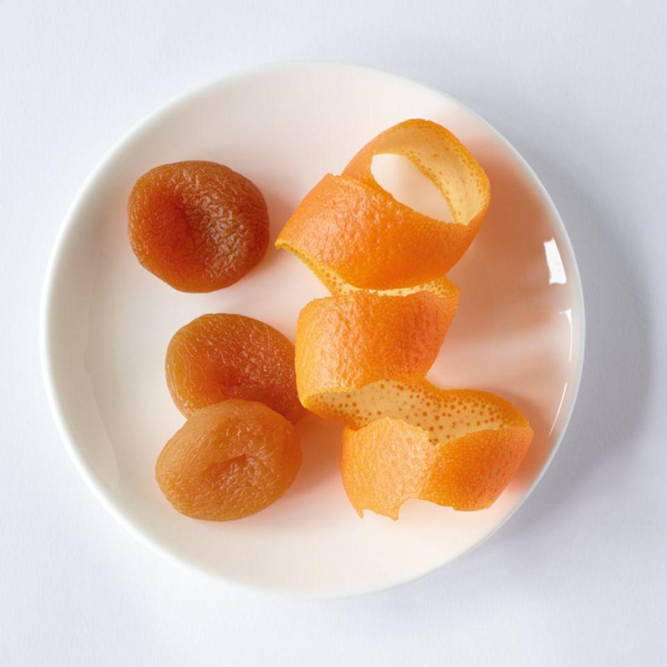 Orangen-Aprikosen- Rhabarberkompott