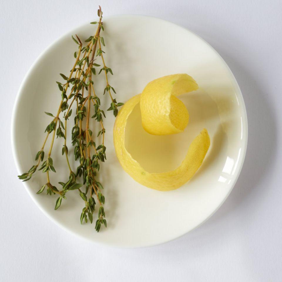 Zitronen-Thymian-Rhabarberkompott