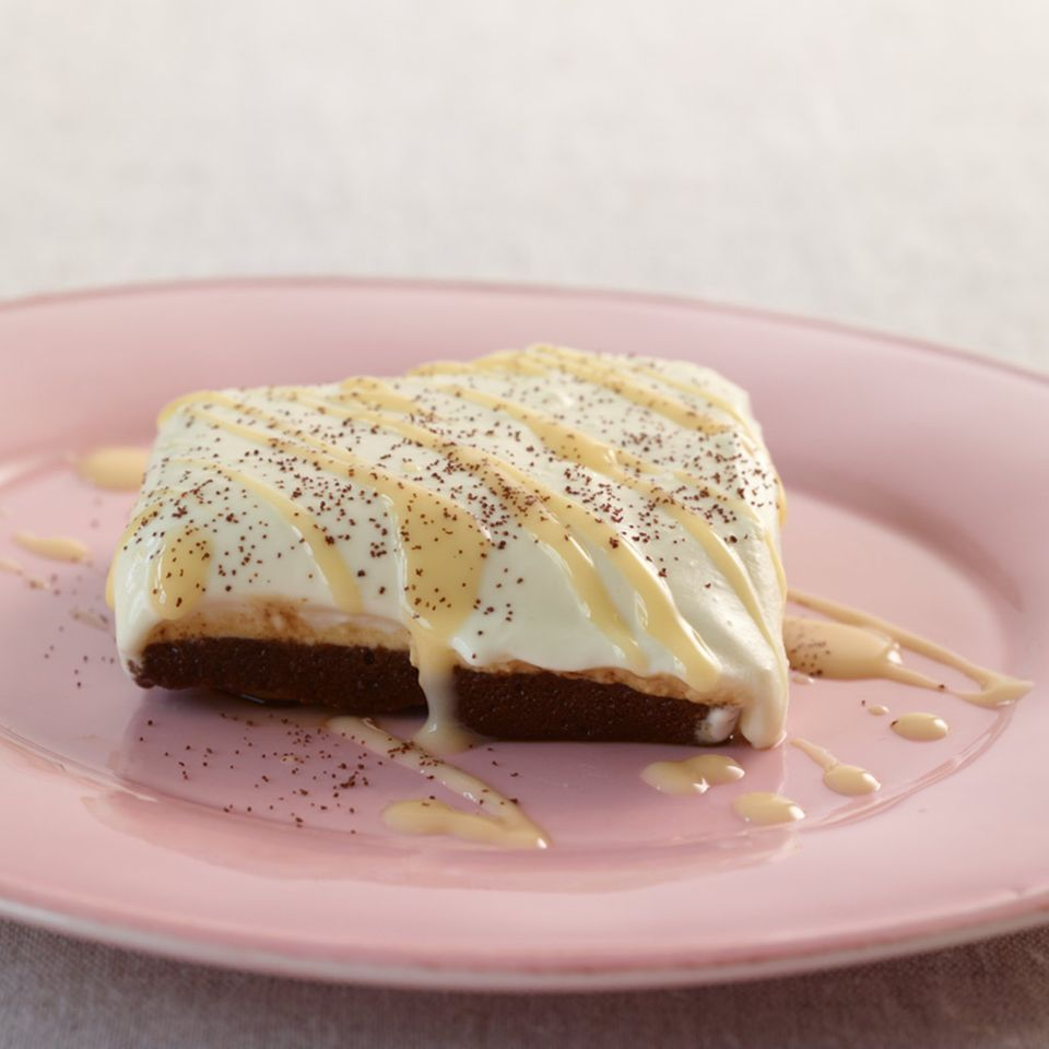 Brownie-Tiramisu mit Eierlikör