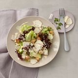 Salat mit Hähnchen und Belper Knolle