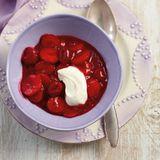 Erdbeer-Himbeer-Grütze