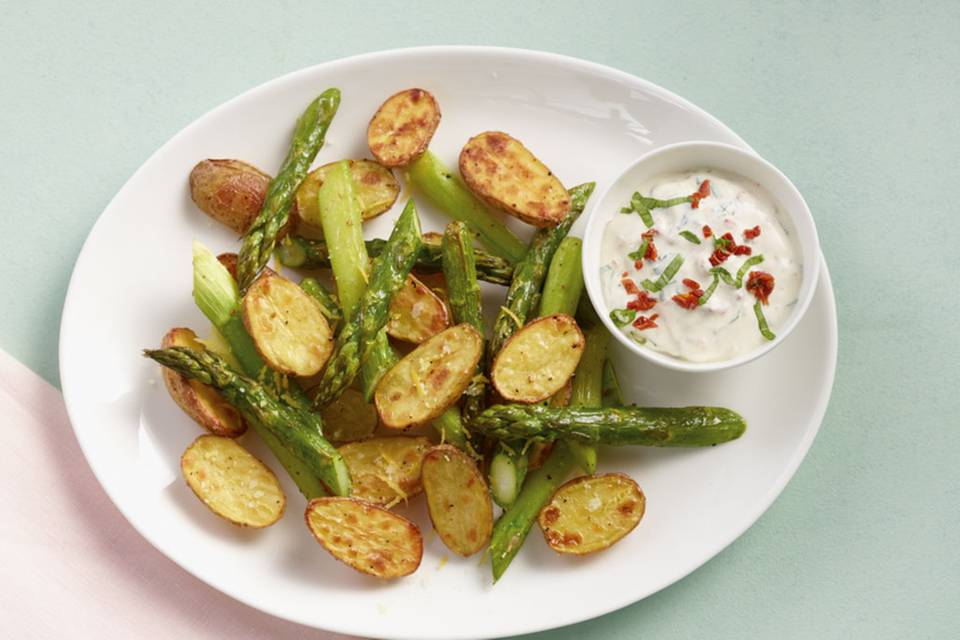 Ofenkartoffeln mit Spargel Rezept