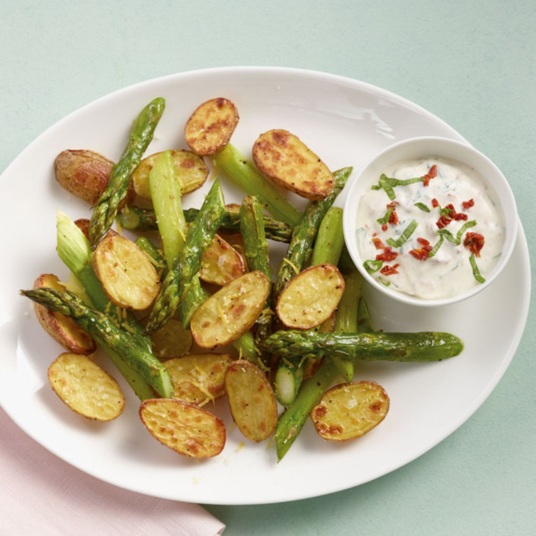 Ofenkartoffeln mit Spargel