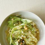 Grüner Salat mit Ei-Vinaigrette