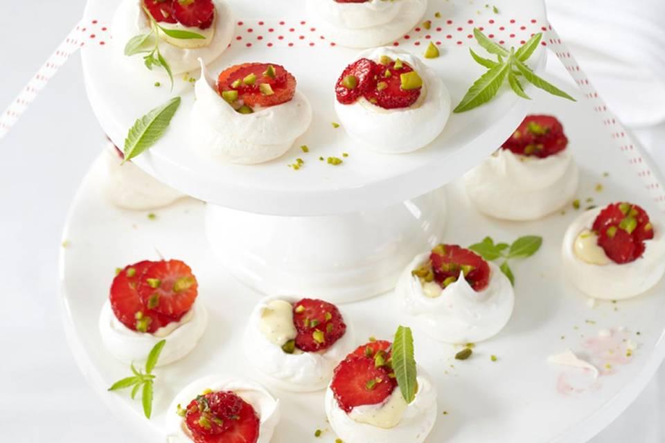 Pavlovas mit Erdbeeren Rezept