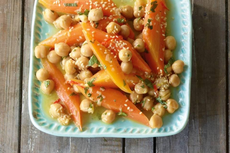 Möhren-Kichererbsen-Salat Rezept
