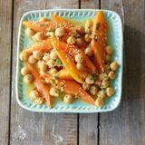 Möhren-Kichererbsen-Salat