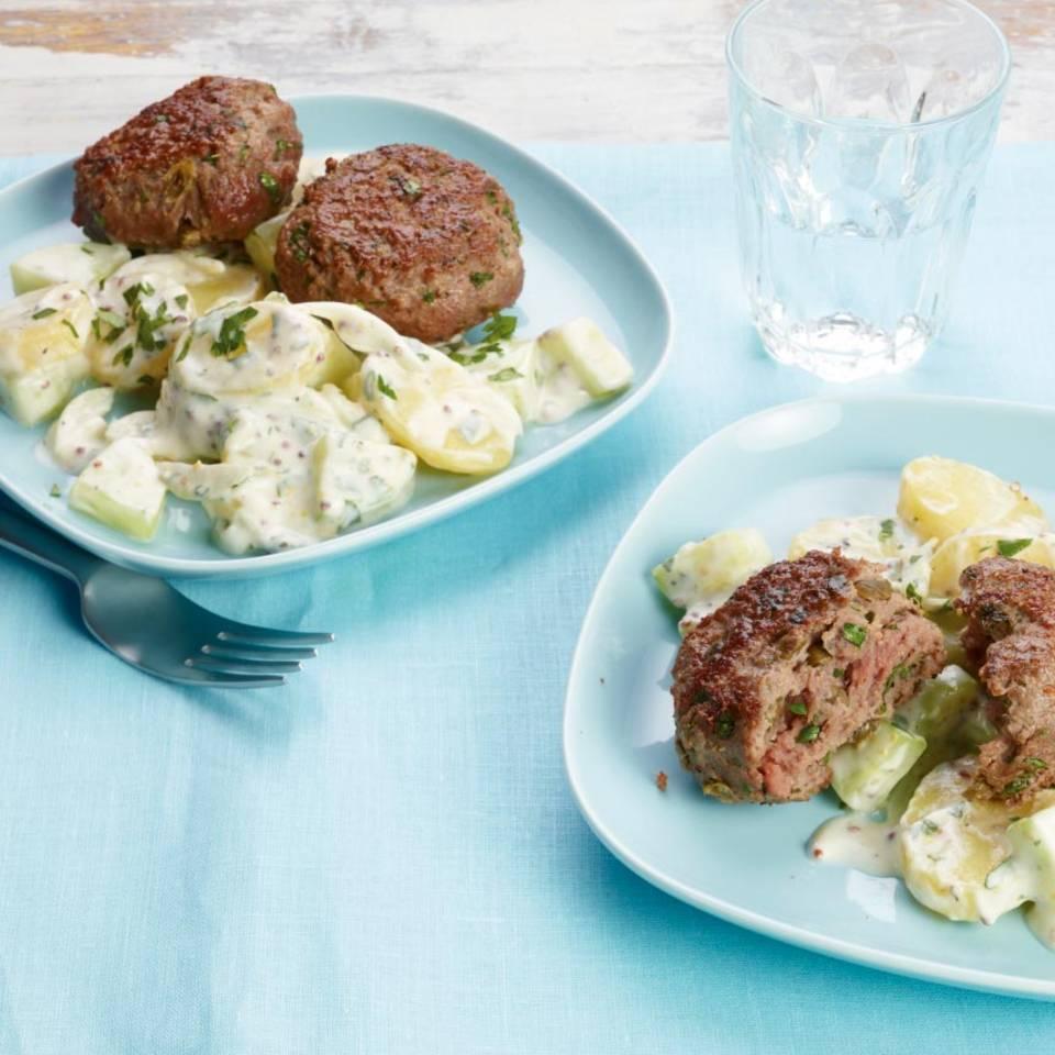 Bulette mit Kartoffelsalat Rezept