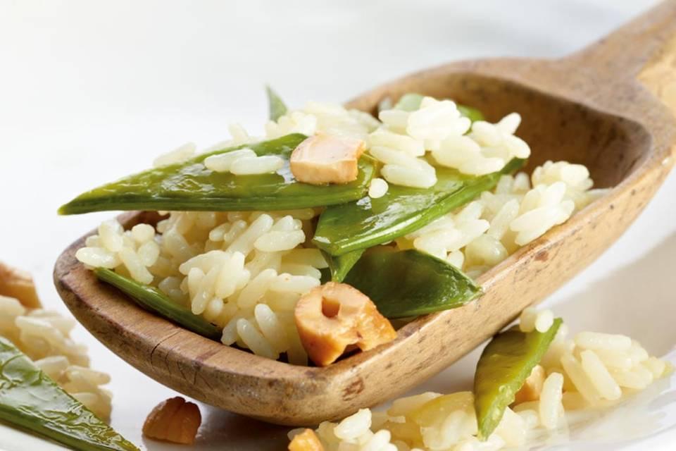 Zuckerschoten-Reis Rezept