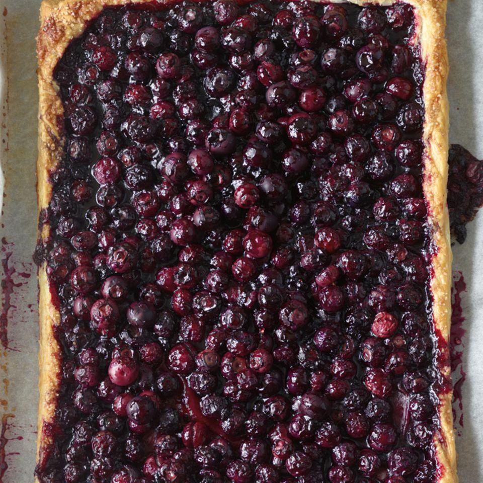 Heidelbeer-Blätterteig-Kuchen