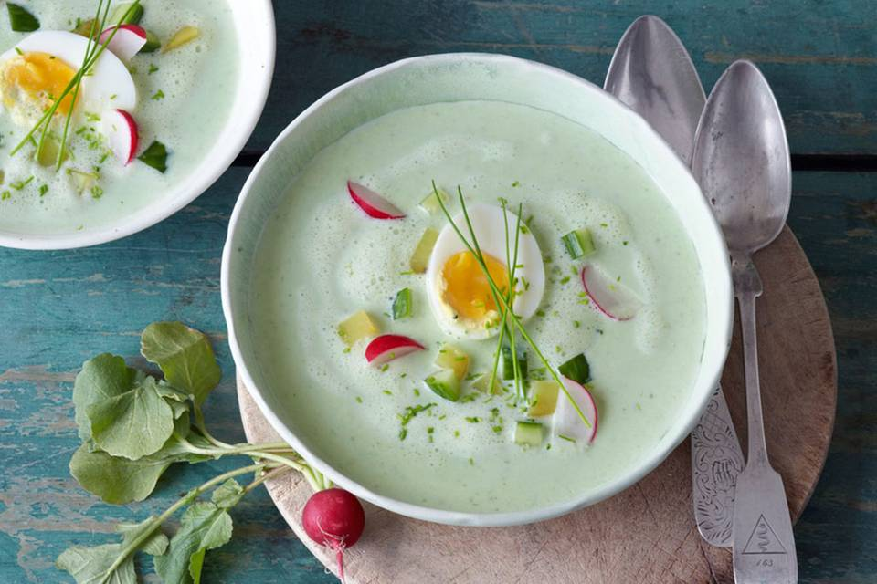 Kalte Buttermilch-Gemüse-Suppe Rezept
