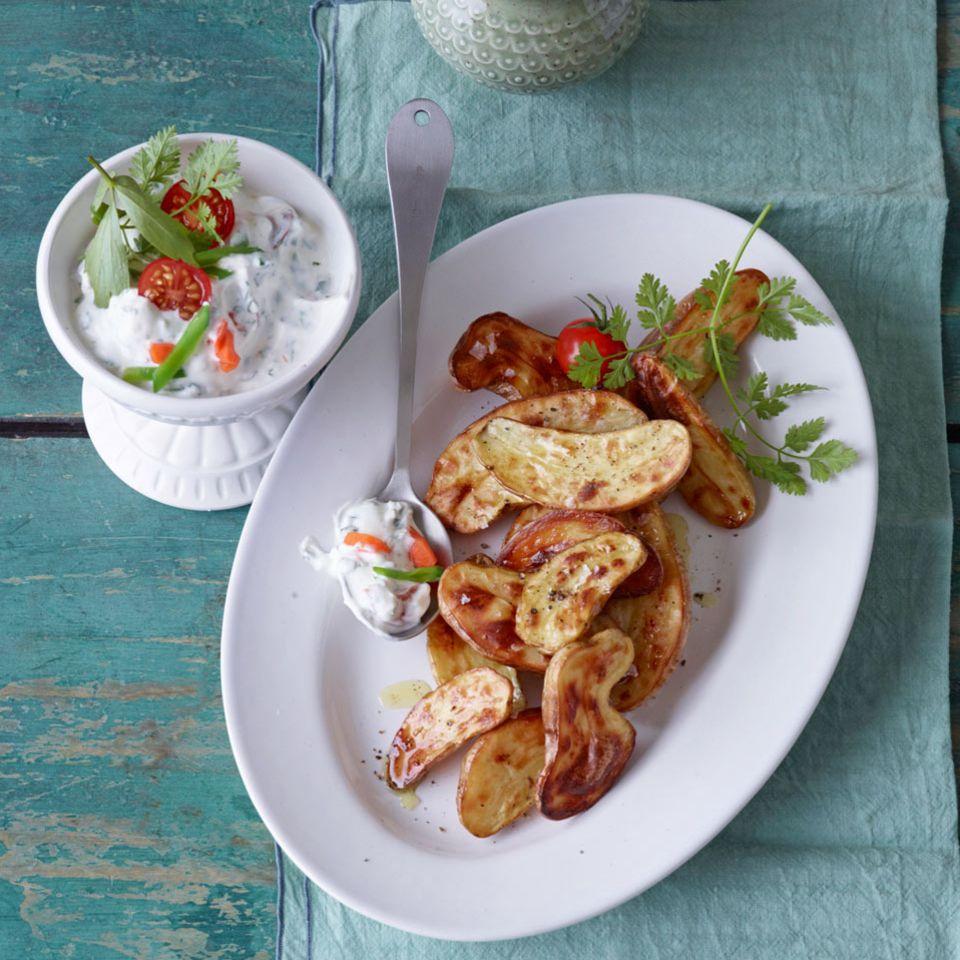 Ofenkartoffeln mit Sommerquark