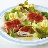 Putenpäckchen mit Salat