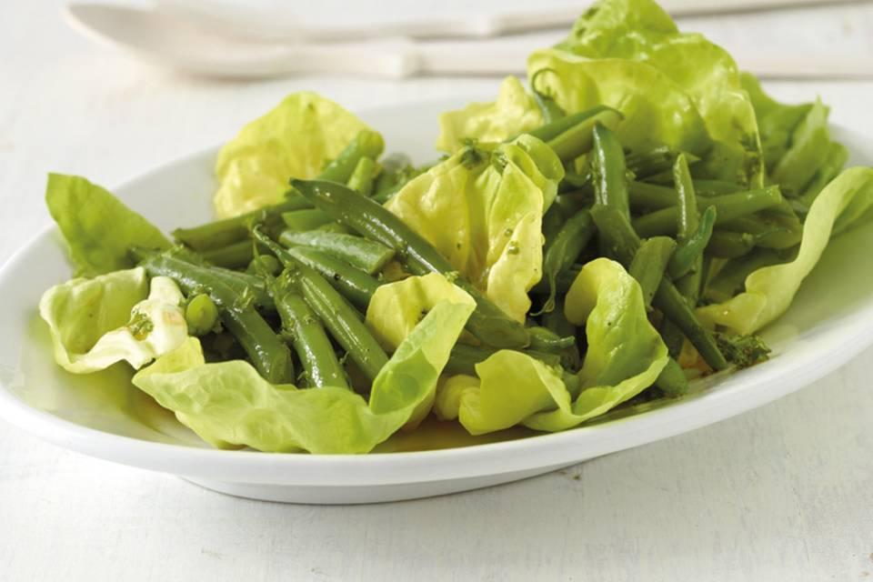 Salat mit grünen Bohnen Rezept