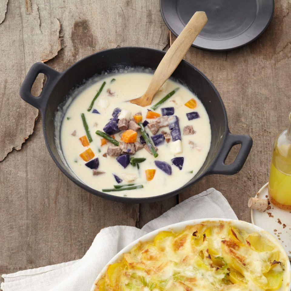 Kartoffeleintopf mit Tafelspitz und Bohnen