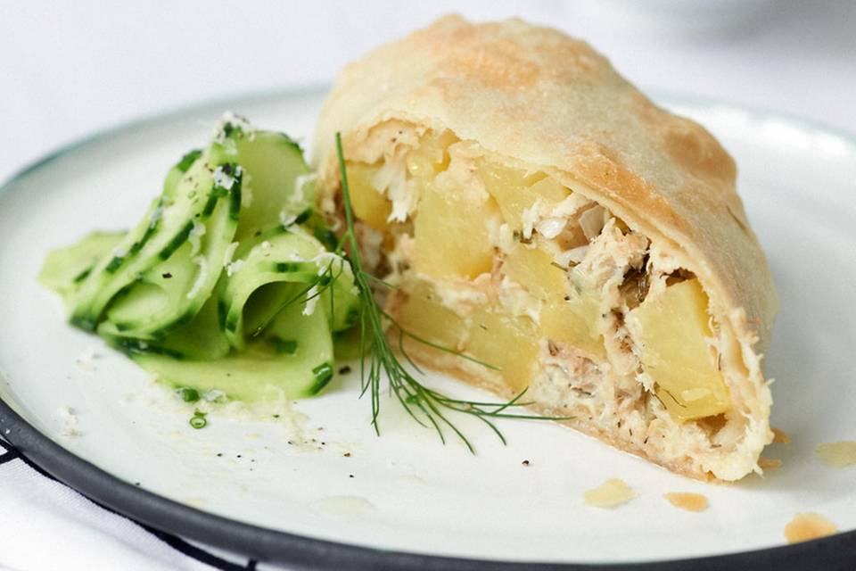 Kartoffel-Räuchfisch-Strudel Rezept