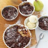 Birnen-Schokoladen-Crumble