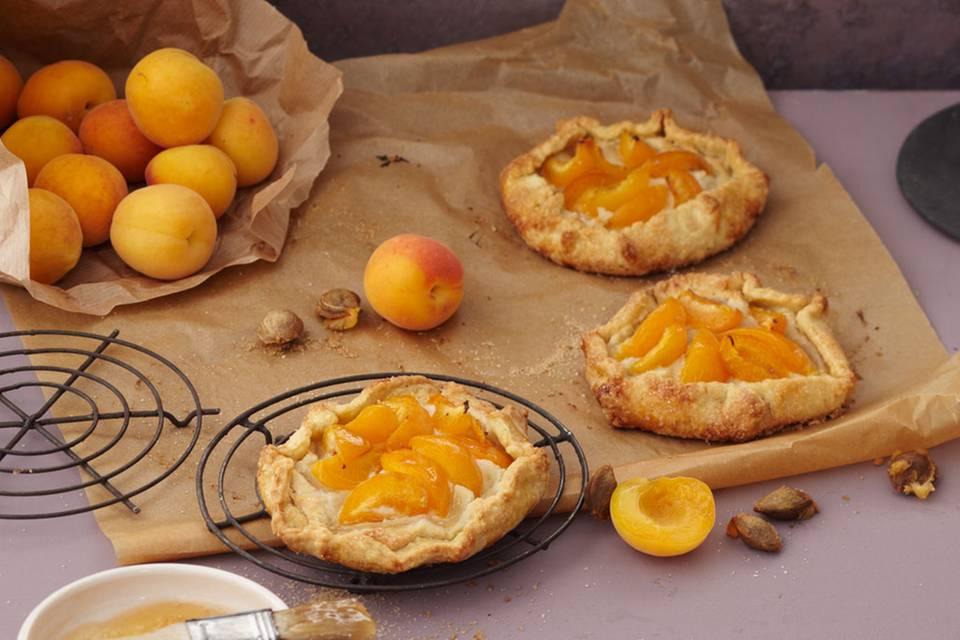 Aprikosen-Marzipan-Tartelettes Rezept