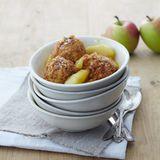 Apfel-Topfenknödel mit Kompott