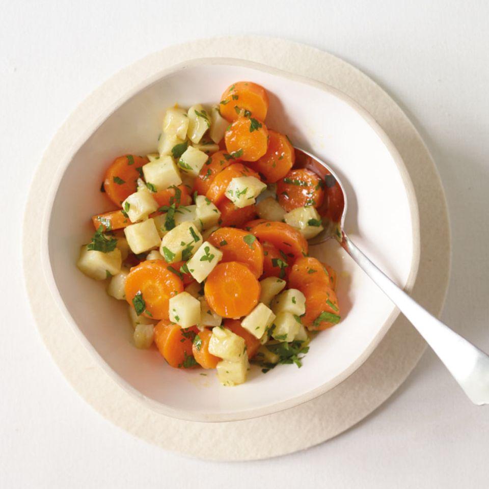 Sellerie-Möhren-Gemüse