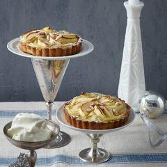 Apfel-Tarte mit Joghurt-Sorbet