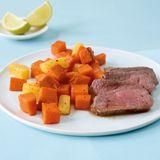 Steak mit Süßkartoffeln