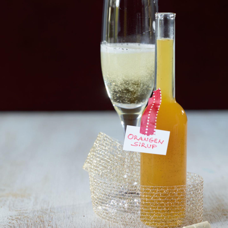 Orangensirup mit Vanille