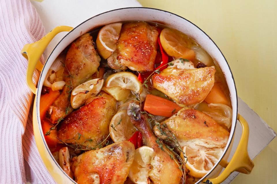 Geschmortes Zitronenhuhn Rezept