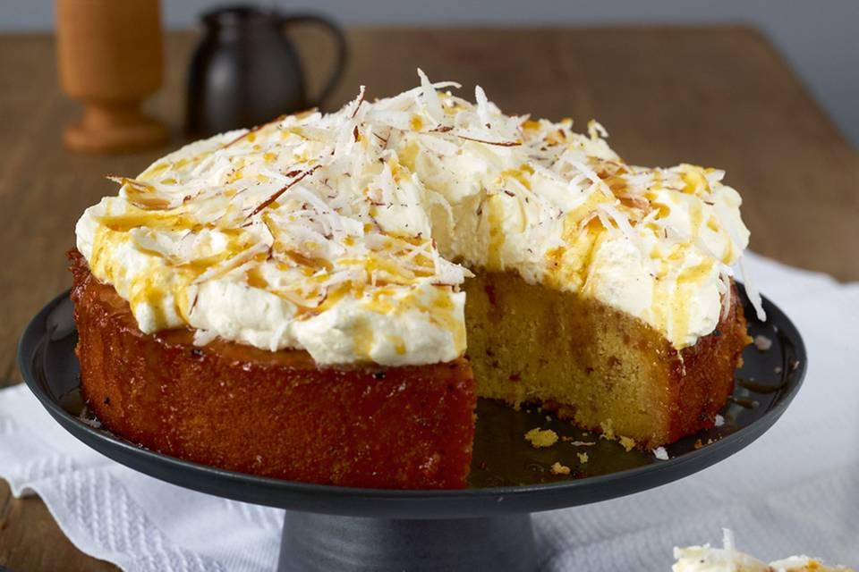 Grießkuchen mit Maracuja-Sirup Rezept