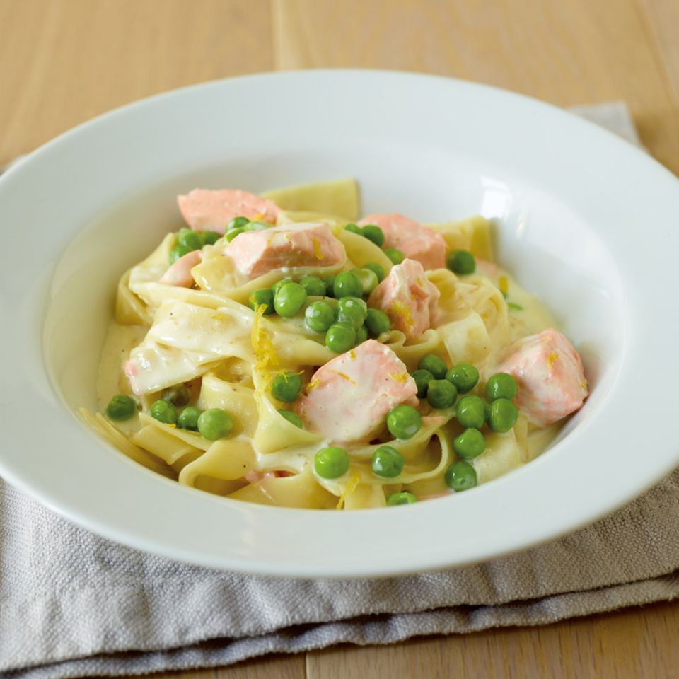 Zitronen-Lachs-Pasta