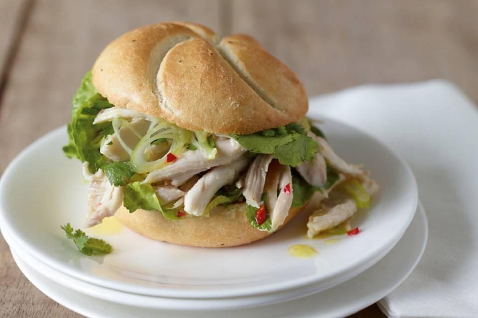 Hähnchensalat-Burger Rezept