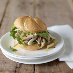Hähnchensalat-Burger