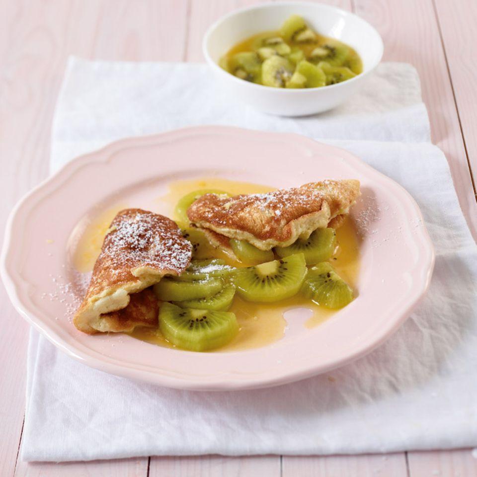 Schaum-Omelett mit Kiwi