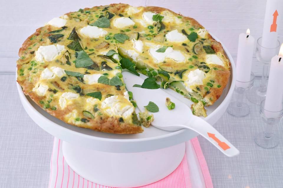 Frittata mit Zucchini und Ziegenfrischkäse Rezept