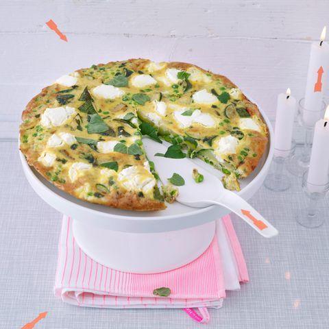 Frittata mit Zucchini und Ziegenfrischkäse