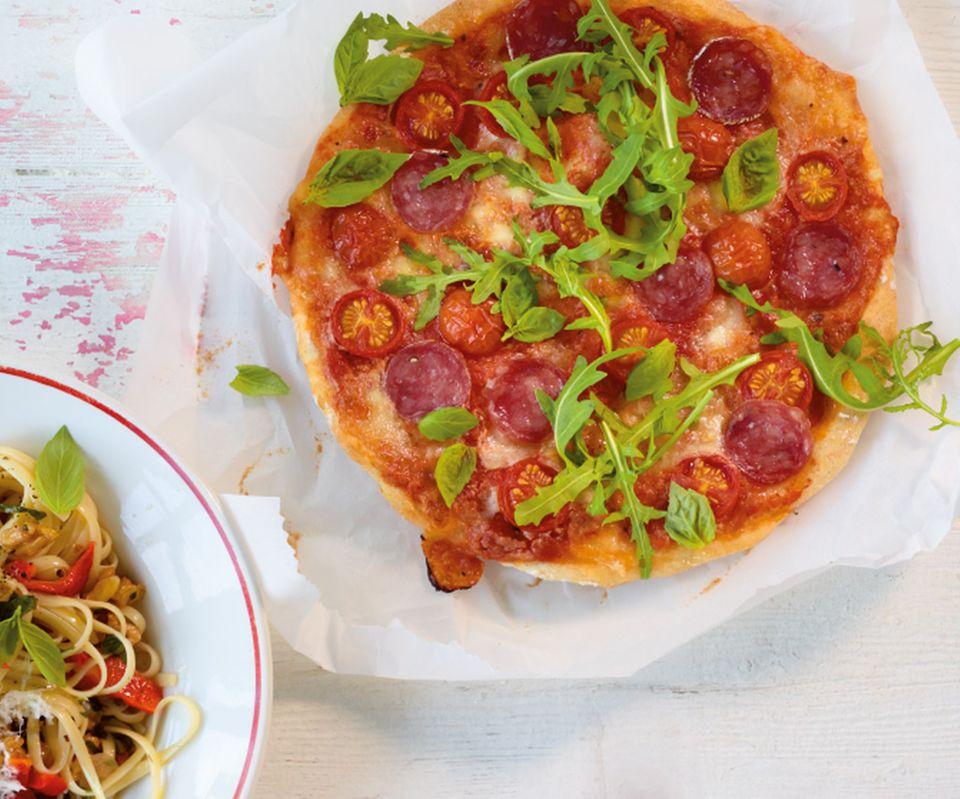 Rauke-Salami-Pizza