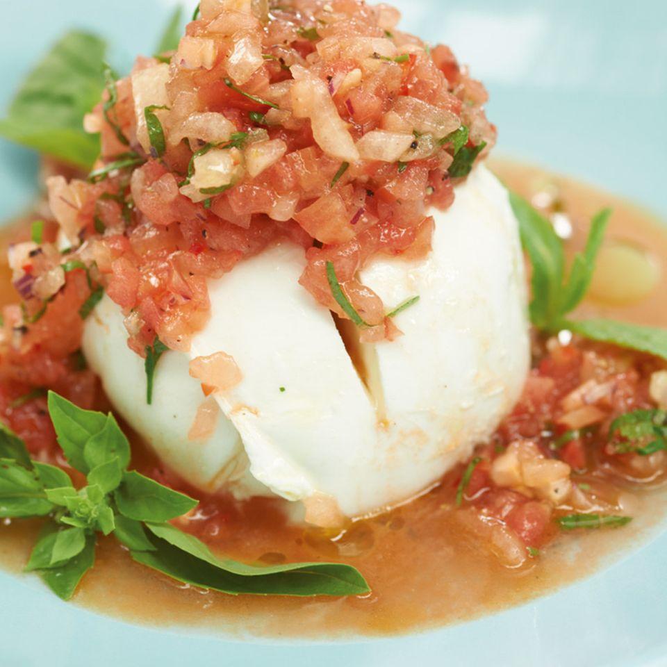 Mozzarella mit Melonen-Salsa