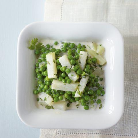 Kohlrabi-Erbsen-Gemüse