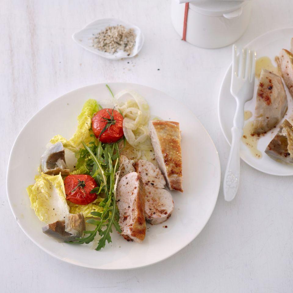 Fenchel-Tomaten-Salat mit Artischocken