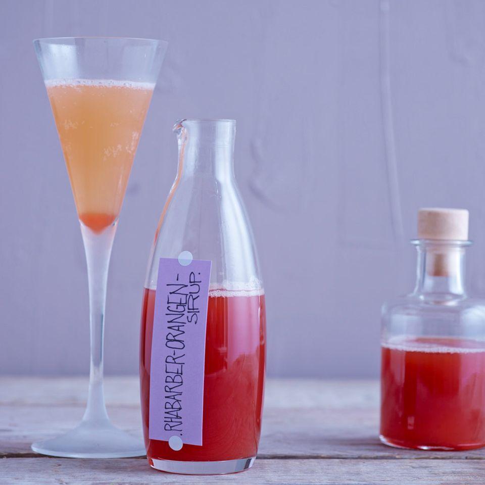 Rhabarber-Orangen-Sirup
