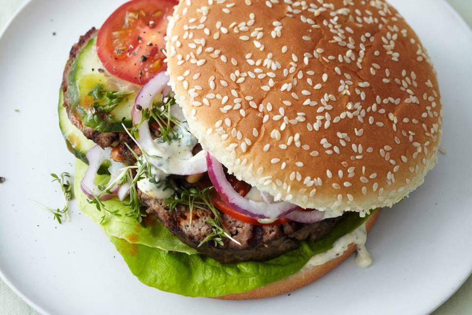 Hackbraten-Burger Rezept