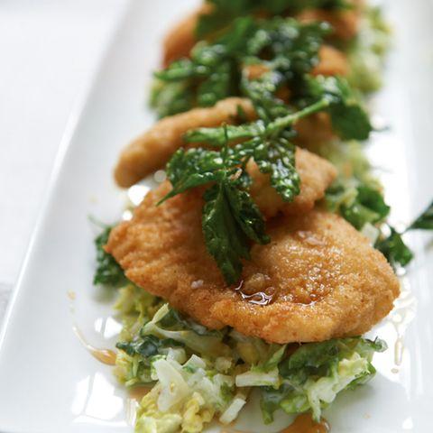 Hähnchen-Schnitzel mit Ahorn-Sirup