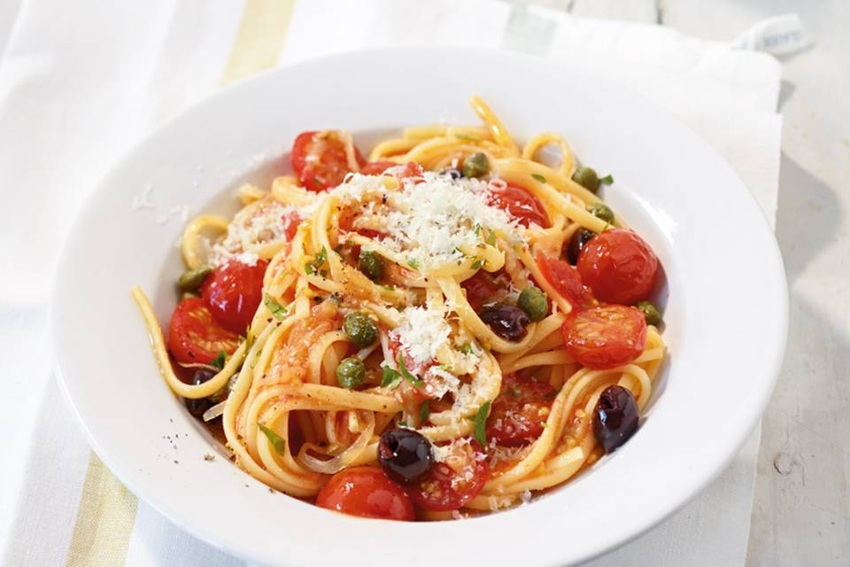 Frische Tomaten-Pasta Rezept