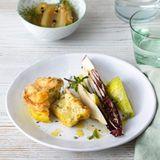 Kartoffel-Soufflé mit Radicchio