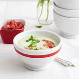 Kalte Gurken-Joghurt-Suppe mit Minze